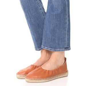 Vince Rae leather espadrille flats pointed toe